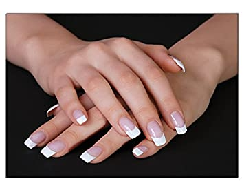 Poster French Weiss Nails Din A3 Nagelstudio Nageldesign Nailart