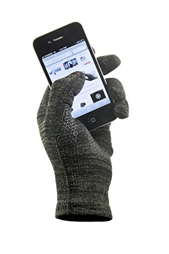 Copper Infused Touch Screen Gloves - Entire Surface Works on iPhones, Androids, Ipads, & Tablets - Anti Slip Palm for Driving & Phone Grip - Maintain Dexterity While Staying Warm (Urban, L)