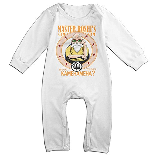 [NOXIDN SMWI Baby Infant Romper Master Roshi Long Sleeve Jumpsuit Costume,White 18 Months] (Master Roshi Costume)