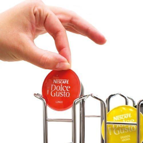 Portacapsule Compatibile Con Cialde Dolcegusto Ducomi Porta Capsule Nescaf/è Dolce Gusto Dispenser Portacialde Idea Regalo Accessori Cucina Tavolo per Macchine Caffe Espresso 36 Capsule