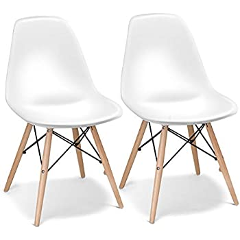 Amazon Com 2xhome Set Of Two 2 Plastic Side Chair