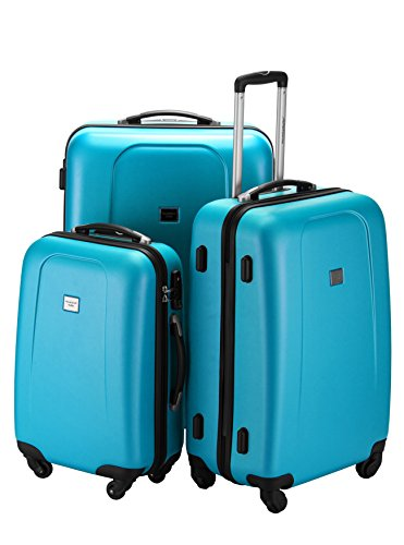 HAUPTSTADTKOFFER Wedding Luggages Set Glossy Suitcase Set Hardside Spinner Trolley (20', 24' & 28') TSA Blue by Hauptstadtkoffer