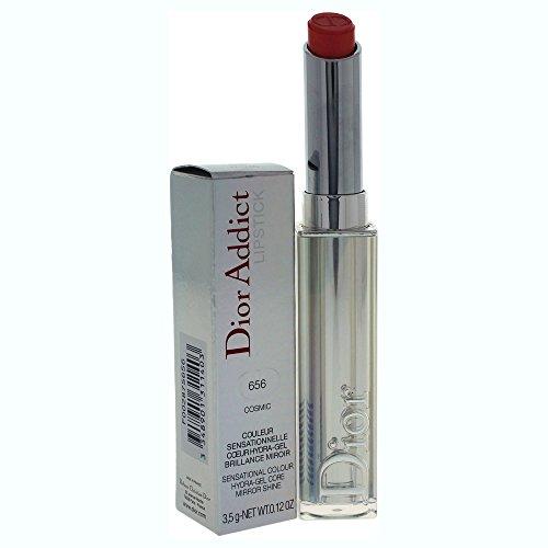- Christian Dior Addict Lipstick Hydra-gel Core Mirror Shine, No. 656 Cosmic, 0.12 Ounce