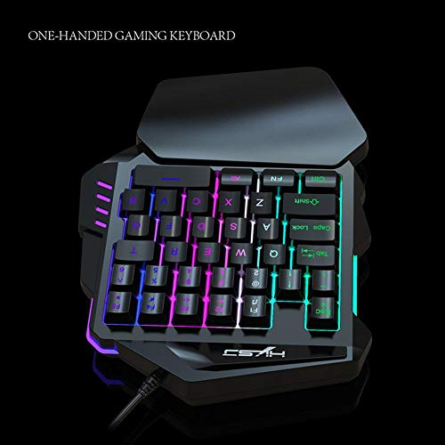 Amazon.com: One Hand Gaming Keyboard, Alloet V100 1.6m Wired ...