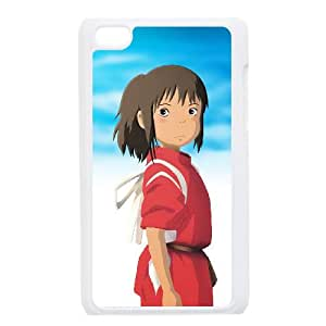 iPod Touch 4 Case White Spirited Away Back Design Phone Case Cover XPDSUNTR31305