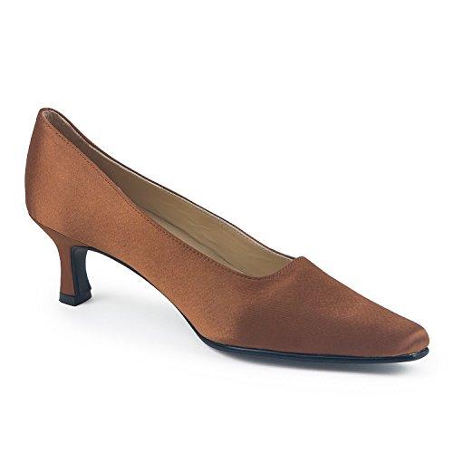 Satin 36 Brown 3 Court Shoes FARFALLA Rwd8YqY