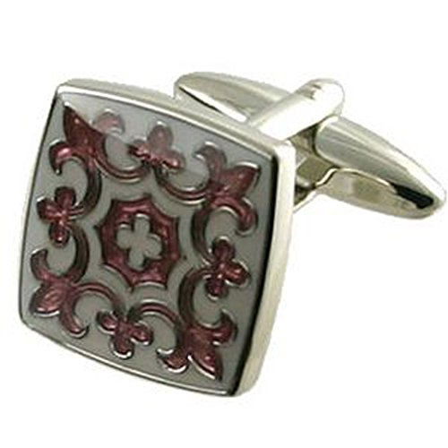 Boutons de manchette rose Tudor box personnalisée gravée en option
