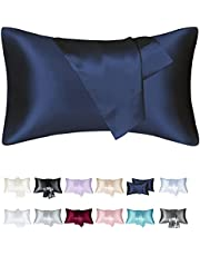 Fatapaese Satin Pillowcases Standard Set of 2, Pillow Cases for Hair and Skin, Satin Cooling Pillow Covers with Envelope Closure