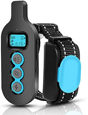 Dog Training e Collar, Shock Vibrate Beep Collar for Dog, IPX7 Waterproof Pet Trainer with Remote, Fast Training Effect Bark Collar for Big Medium Small Dog, 1000FT Max Remote Range, Long Battery Life