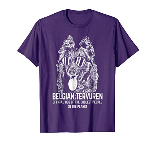 Mens Belgian Tervuren Official Dog of the Coolest T-Shirt Large Purple