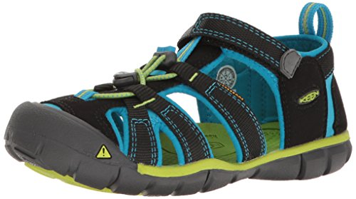 KEEN Unisex-Child Seacamp II CNX-C Sandal Black/Blue Danube 2 M US Little Kid