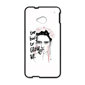 HTC One M7 Cell Phone Case Black Too Busy To Grow Up OQ7700843