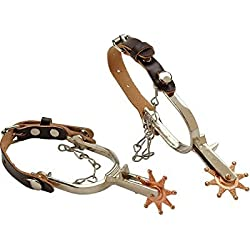 M & F Western Boys' Little Outlaw Toy Spurs Tan One Size