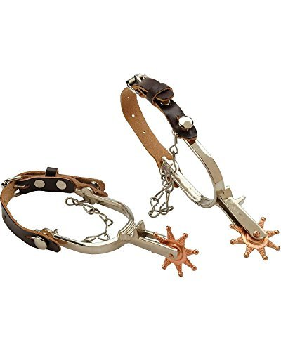 M & F Western Boys' Little Outlaw Toy Spurs Tan One Size (Boys Boot Spurs)