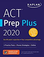 ACT Prep Plus 2020: 5 Practice Tests + Proven Strategies + Online Front Cover