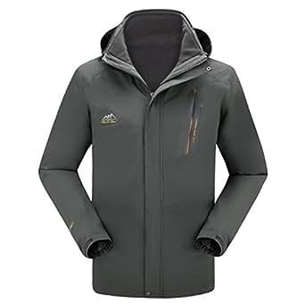 Amazon.com: Dnstar Mens 3 in 1 Jacket Waterproof Winter