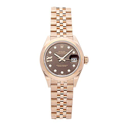Scattered Diamond Watch - Rolex Datejust Mechanical (Automatic) Brown Dial Womens Watch 279165 (Certified Pre-Owned)