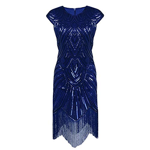 Asymétrique Royal De Polyester Ts Femme Dress Soirée Blue Shine Sparkle Vintage Robe Waza amp; Cocktail fqYOARx