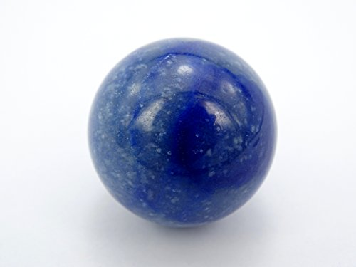 jennysun2010 1 piece Natural kyanite Gemstone Collectibles Round Ball Crystal Healing Sphere Finger Health Massage Rock Stones 30mm With Wood Stand