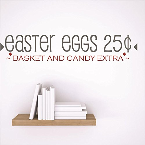 Vinyl Wall Decal Sticker : easter eggs 25¢ ~BASKET AND CAND