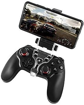 Diswoe Android PS3 Bluetooth Wireless Controller, Gamepad Controller Joystick con soporte ajustable para Android Smartphone PS3 Windows PC (Negro) Green7: Amazon.es: Electrónica