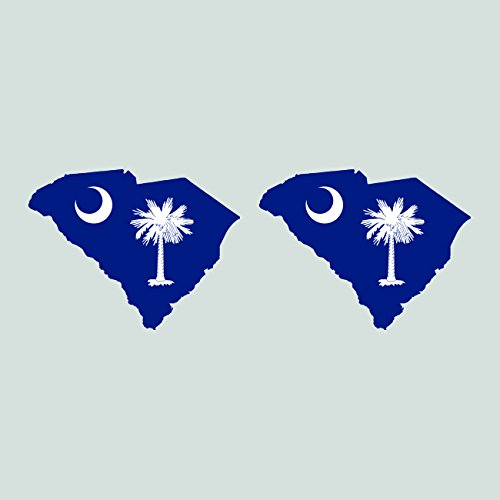 Two Pack South Carolina State Shaped Flag Sitcker FA Graphix Decal SC