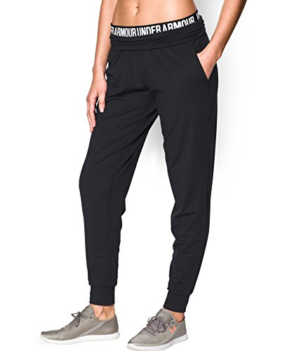Under Armour Women's Downtown Knit Pant, Black (001), Small
