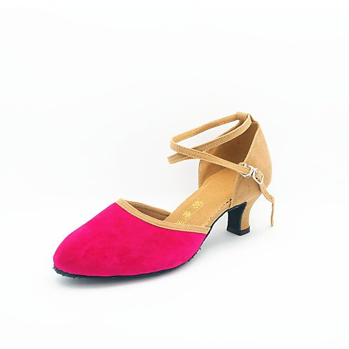 Women's T Heel Modern Suede Shoes T Dance Green Cuban Q Green EqwRrEO