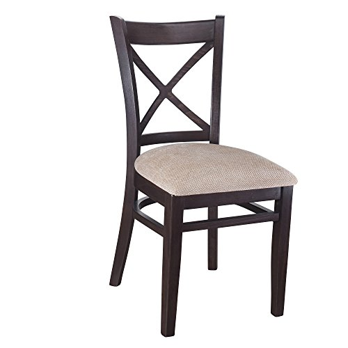 Beechwood Mountain BSD-106S-W Solid Beech Wood Side Chairs in Walnut for Kitchen and dining, set of 2 ()
