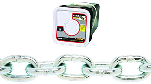 (Baron PC3014SP Welded Proof Coil Chain 1/4 in x 100 ft 1300 lb Steel)