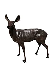 Life Size Aluminum Deer Doe Garden Statues
