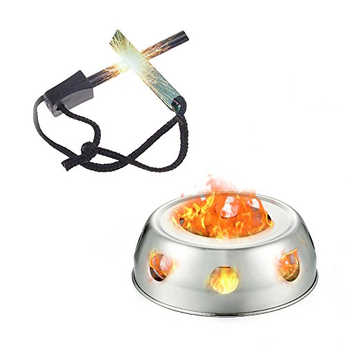 ezyoutdoor Portable Ultra-light Spirit Alcohol Stove Stand Durable Alcohol Stove for Emergency and Survival Situations BBQ Hiking Camping Backpacking Review
