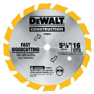 Dw9055 5-3/8-inch 16 Tooth Series 20 Arbor Carbide Circular Saw Blade -