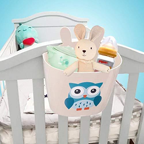 Crib Hanging Basket Bedside Storage Bag Multifunctional Diaper Toys Storage Basket for Baby Toddler