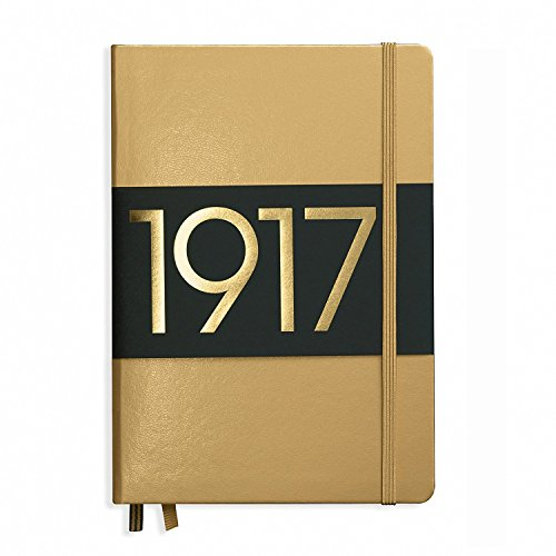 Leuchtturm Hardcover Medium A6 Dotted Notebook [Gold]