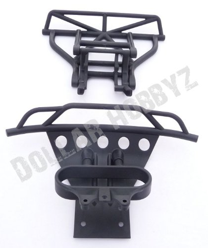 (Traxxas 1/10 Slash 2WD * BUMPERS & SKID PLATE * Front & Rear 5804)