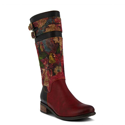 L`Artiste by Spring Step Women's Leather Boots Barbie Red Multi EU Size 37 ()