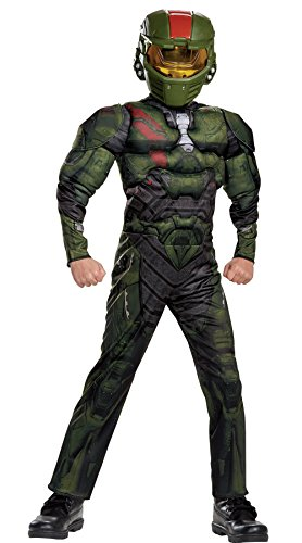 Halo Wars 2 Jerome Classic Muscle Costume, Green,