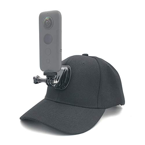 VGSION Hat Camera Mount for Insta360 one x / Insta360 one/Insta evo/Osmo Action/GoPro/Rylo/Garmin VIRB 360/Samsung Gear 360 / Ricoh Theta(Non Sticky Type)