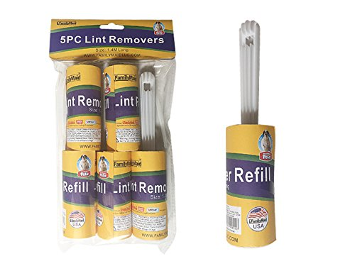 TEAR-OFF LINT ROLLER 5PC Size: 1.4 Meters Each Roll , Case of 72 by DollarItemDirect