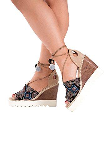 Lusty Chic - Zapatos con tacón mujer Beige