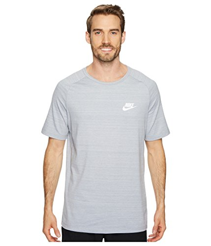 Nike Mens AV15 Athletic T-Shirt Wolf Grey/Heather-White 885927-012 (X-Large)
