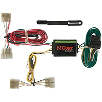 Amazon.com: CURT 56321 Vehicle-Side Custom 4-Pin Trailer ... on trailer plugs, trailer mounting brackets, trailer fuses, trailer hitch harness, trailer generator, trailer brakes,