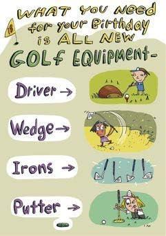 Carte D Anniversaire Humoristique Homme Femme Equipement De Golf De La Gamme Mooning Duck Ukg 616394 Amazon Fr Fournitures De Bureau
