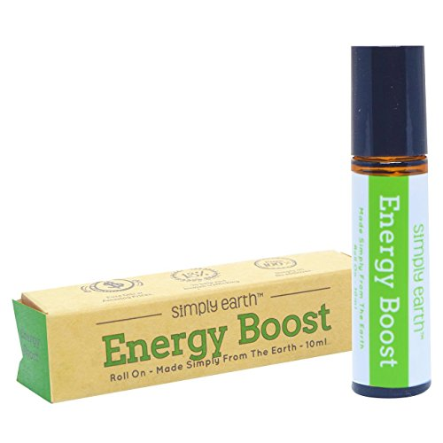 Energy Boost Essential Oil Blend Roll-On Bottle by Simply Earth - 10ml, 100% Pure Therapeutic Grade