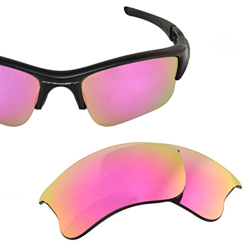LenzFlip Replacement Lenses for Oakley FLAK Jacket XLJ Sunglass frames- Gray Polarized w/ Pink - Sale Cheap Oakleys For Sunglasses