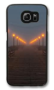 Foggy pier Custom Samsung Galaxy S6/Samsung S6 Case Cover Polycarbonate Black