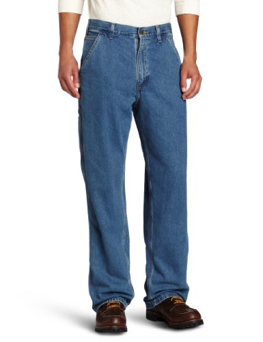 Cotton 11.75 Ounce Denim (Carhartt Men's Big & Tall Washed Denim Original Fit Work Dungaree B13,Stonewash,54 x 30)