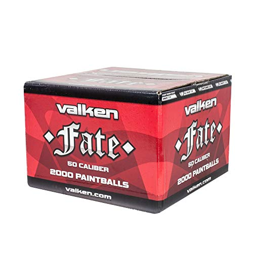 Valken Fate Paintballs - 50cal - 2,000ct - Yellow/Yellow-Yellow Fill ()