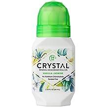 Crystal Essence Deodorants Roll On Essence, Vanilla Jasmine, 2.25 Fluid Ounce